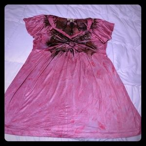 Pink One World top
